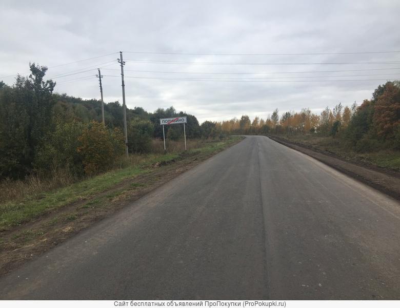 Земельный участок в деревне Полибино