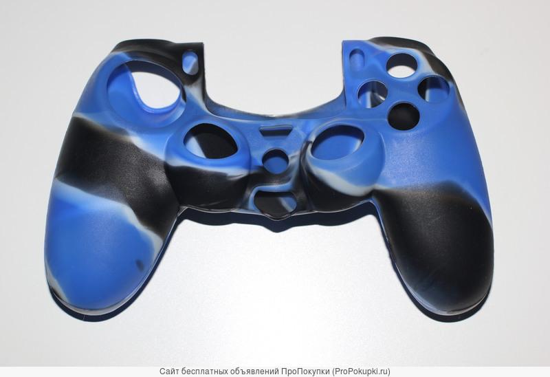 Сине-черный чехол для dualshock 4 ps4