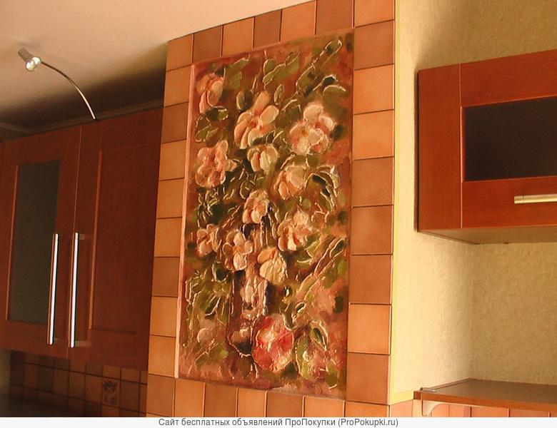 Оригинальная отделка стен. Фактурные панно