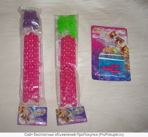 Фенечки Winx наборы с 450 резинками, станками, застежками