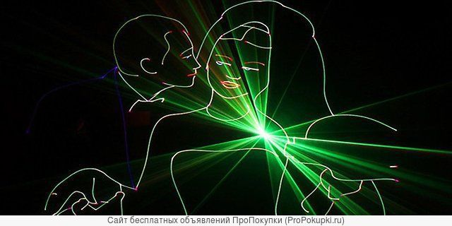 Лазерное шоу на свадьбу, день рождение