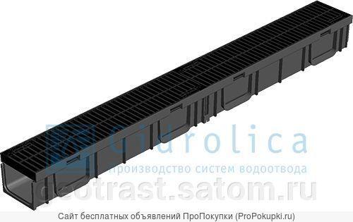 Лотки водоотводные (бетонные и пластиковые)