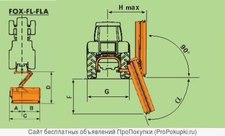 Косилка роторная Agrimaster FOX (Италия)