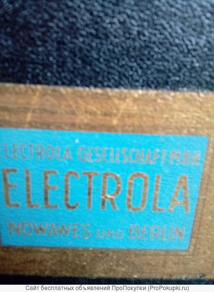 продам патефон Electrola Германия