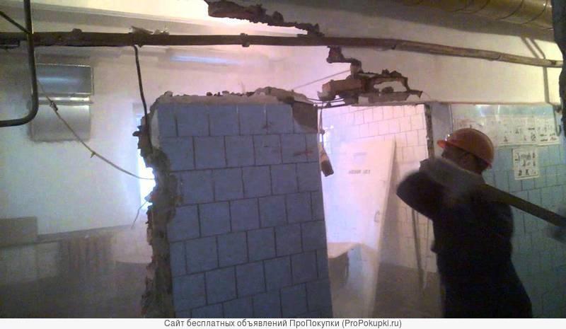уборка участков, помещений, демонтаж строений, земляные работы