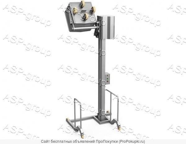 Столбовой мачтовый подъёмник-опрокидыватель, передвижной