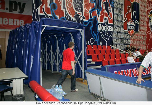 Туннель защитный для стадионов, козырьки, навесы