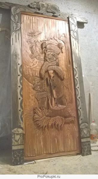 Резные двери, наличники