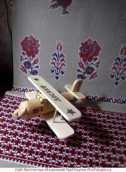 Деревянная игрушка Самолёт ПО – 2