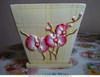 Керамическое кашпо с поддоном