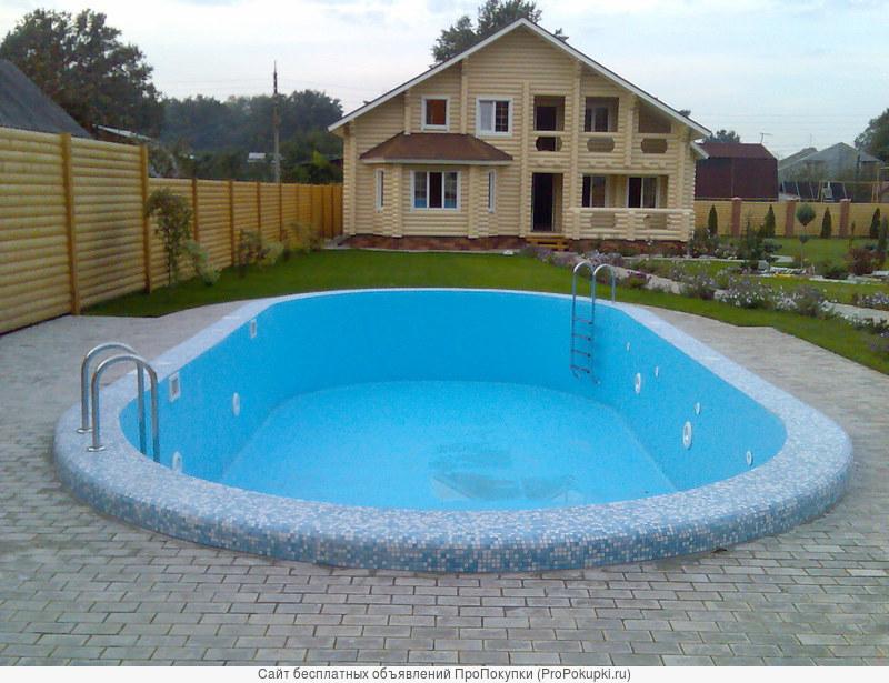 Строительство бассейнов.