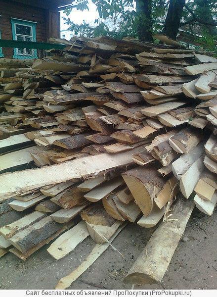 дрова хвоя тюльки 0.1-1м горбыль дровяной крупный