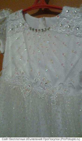Продам бальное платье для девочки 5-6 лет