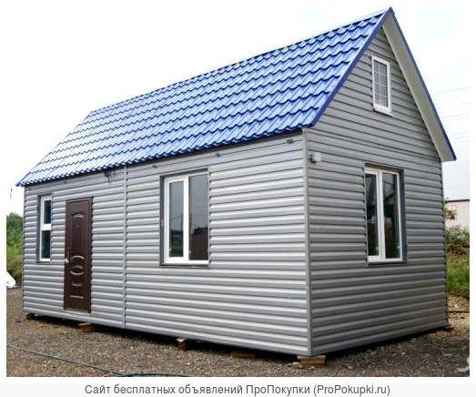 Дачные домики из металлоконструкций под заказ.