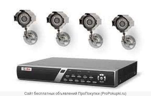 Комплект видеонаблюдения высокого разрешения с гарантией недорого
