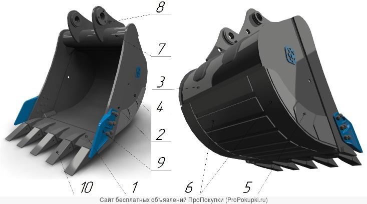 Ковш стандартный SB-2.1,2 для ЕС240/260