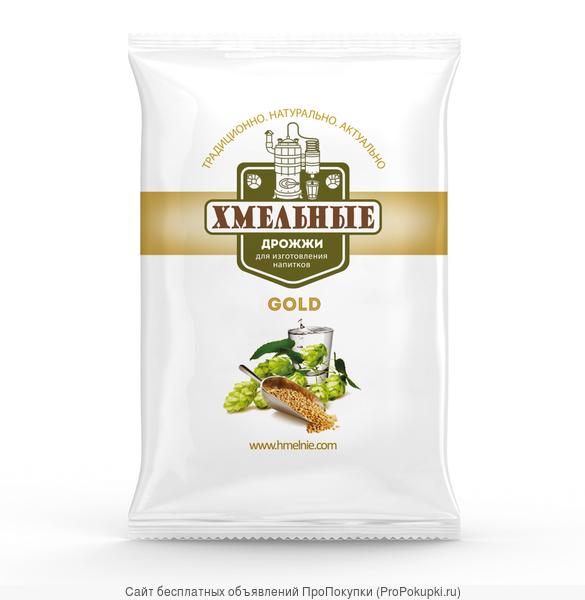 Дрожжи Хмельные Gold сухие для изготовления напитков 100 грамм