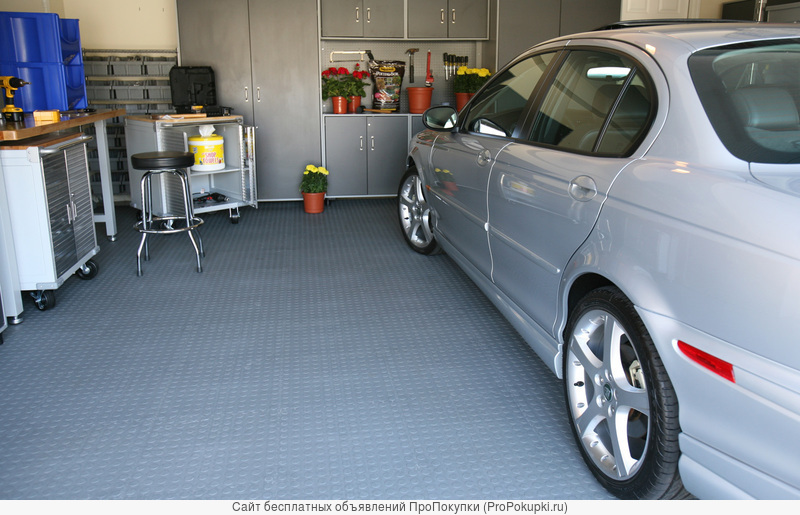 Резиновое покрытие для площадки, лестницы, входа, гаража