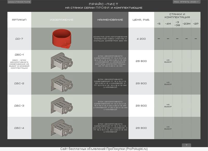 Лекала и оснастка для кузнечных станков «художественной ковки»