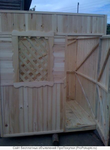 Бытовка деревянная для дачного инвентаря. Доставка