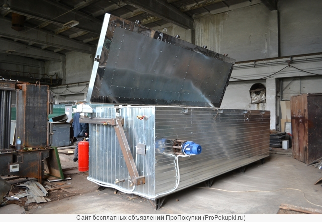 Оборудование « Энергия» для термомодификации древесины без перезагрузки после предварительной конвективной сушки .