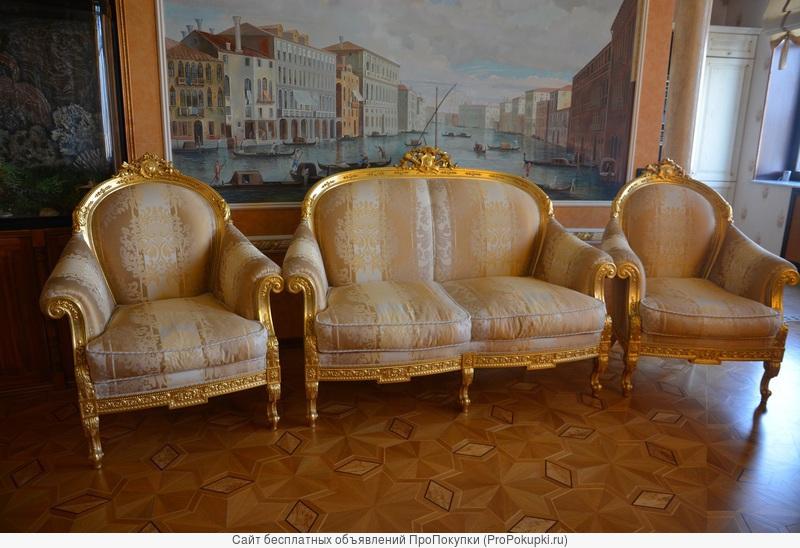 Диван, 2 кресла и журнальный столик Turri модель Otello новые Италия