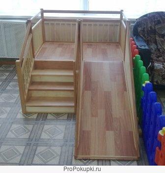 Игровые детские горки для детских садов 1.2х1.2м