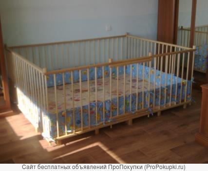 Большой детский деревянный манеж 1,5х2,0м с калиткой