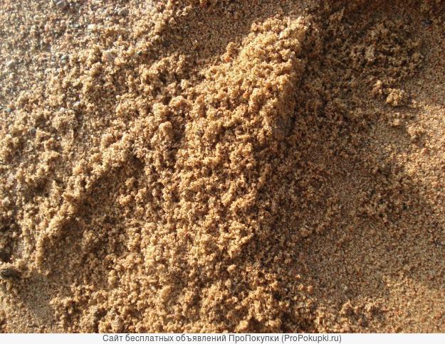 Песок строительный, песок мытый. Навалом и в мешках
