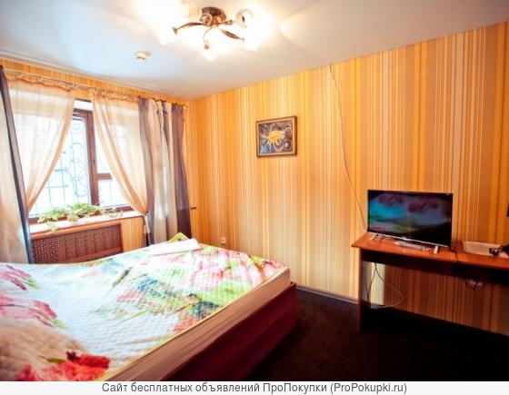 Номер-студия с двуспальной кроватью в гостинице Барнауле