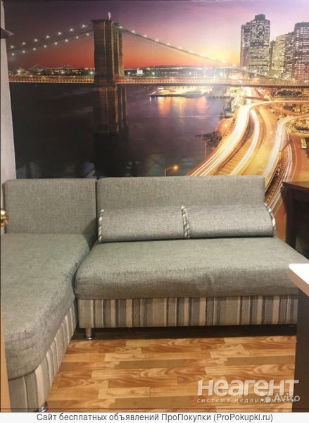 Сдам студию 20 метров мебель бытовая есть.собственник