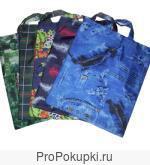 Продаем сумки хозяйственные, цветные с рисунками (болоньевые)