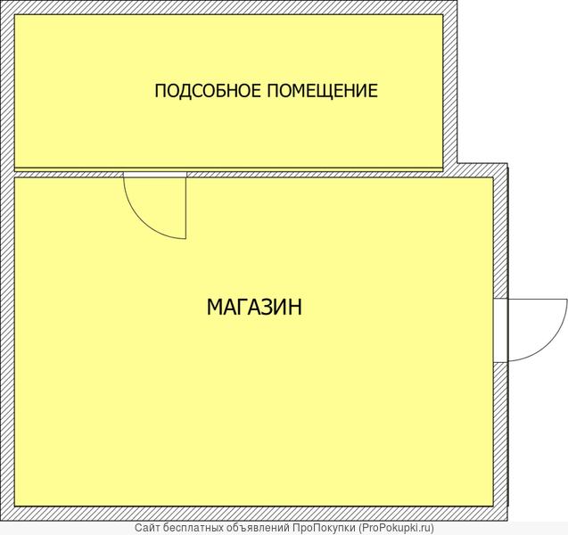 Торговое помещение на центральной улице ст.Выселки Краснодарского края