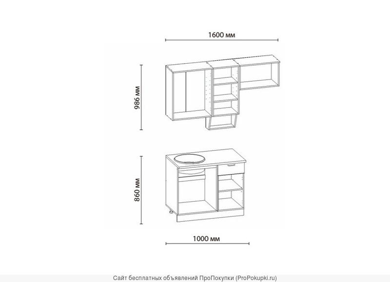 Классика-1 кухня, длина 1600