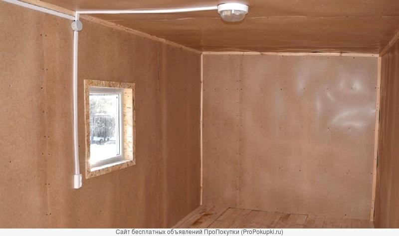 Дачный домик-бытовка 4 м х 2,45 м за 69 тысяч