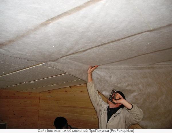 утепление потолка и стен