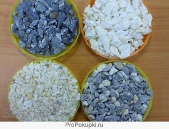 Мраморный щебень, микрокальцит, цементы