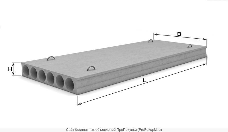Плиты перекрытия ПК 56-15 полный ассортимент