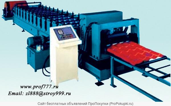 Линия для производства металлочерепицы с покрытием крошкой