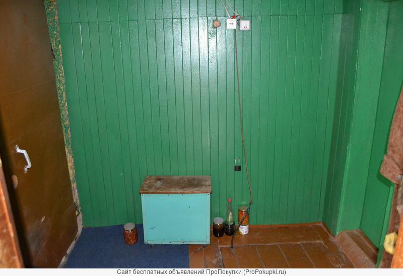 Дом каркасно-кирпичный 52 кв.м., гараж, баня, погреб, сад