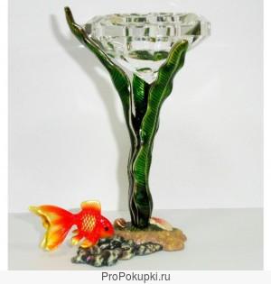 Водный мир или Золотая рыбка Подсвечник