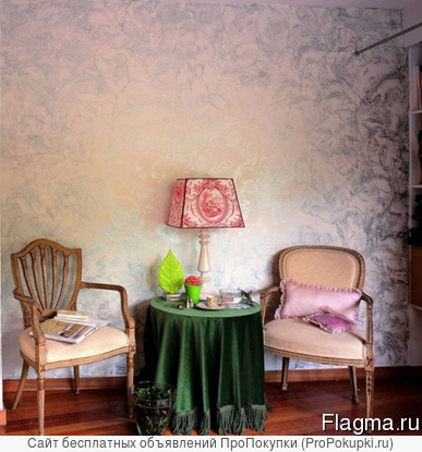 Отделка интерьера декоративной штукатуркой