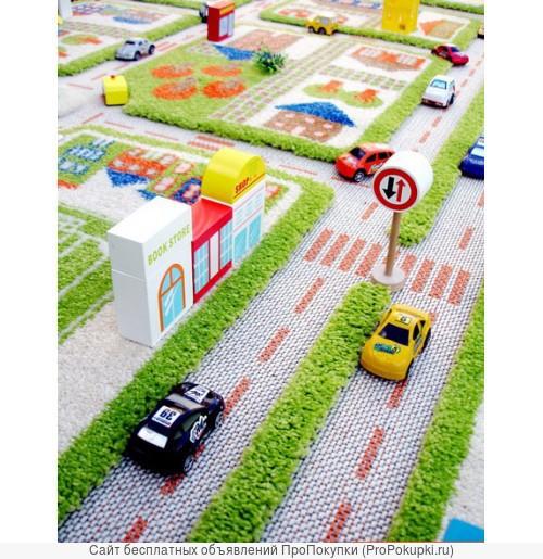 Детский коврик Трафик с набором игрушек