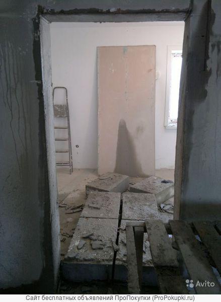 Резка бетонных полов и стен под двери и окна