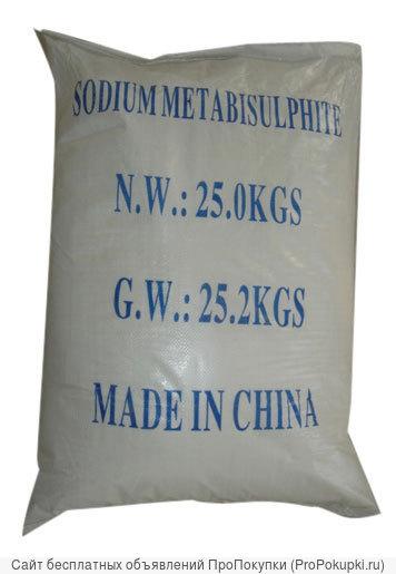 Пиросульфит натрия (метабисульфит) меш. 25 кг