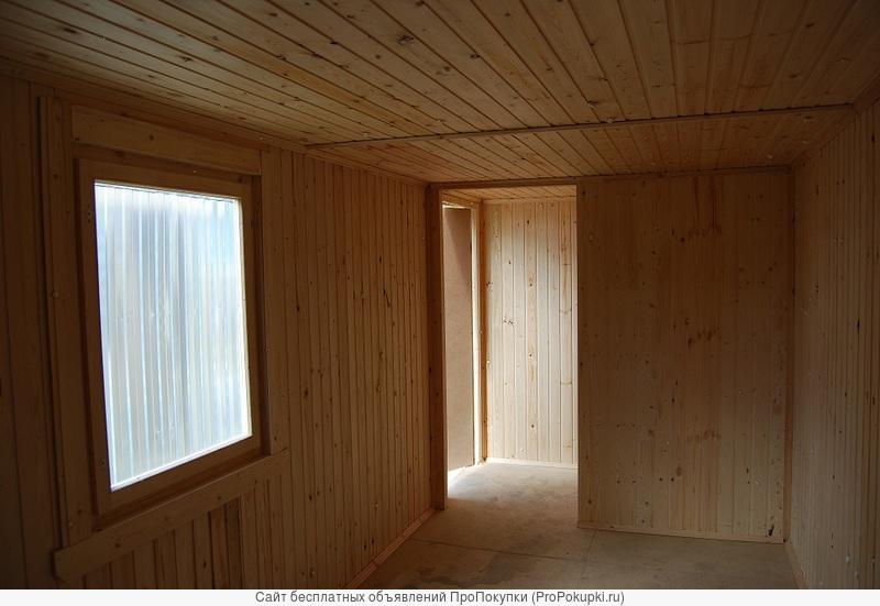 Деревянный домик-беседка