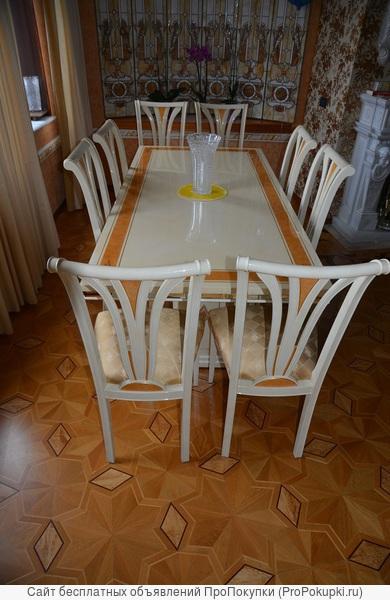 Обеденная группа фабрики Turri Kristal стол и 8 стульев