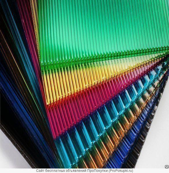 Сотовый поликорбонат цветной 4мм (2100*6000)