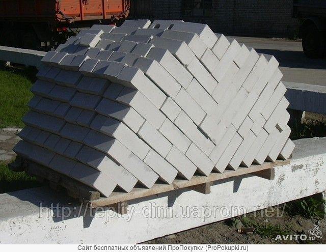 Кирпич силикатный белый, фундаментальный,облицовочный