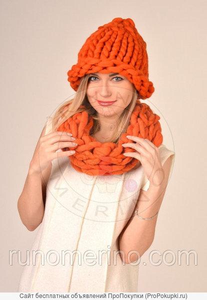Модные шапочки из толстой пряжи